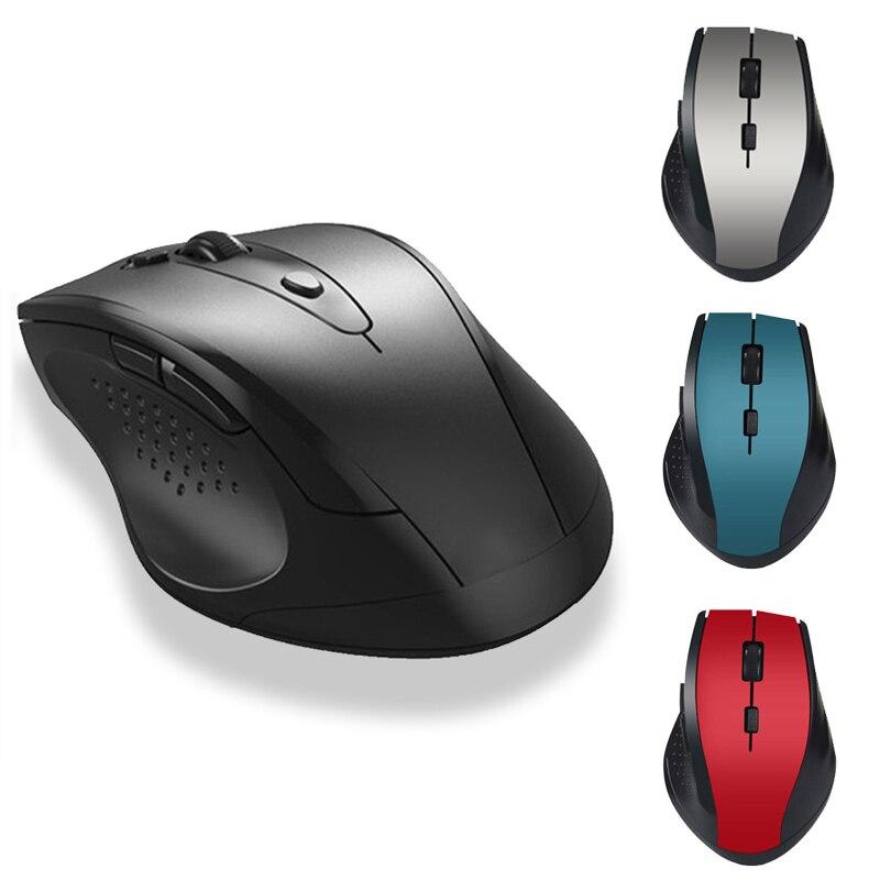 2.4GHz אלחוטי משחקי עכבר נייד עכבר גיימר למחשב PC מחשב נייד אבזר עם USB מקלט שקט אלחוטי עכברים משרד