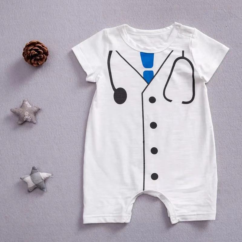 Baby Boys   Romper   Sleeve Doctor Costume One-Piece Outfits For Boy Pullover Onesie Children's Jump Suit