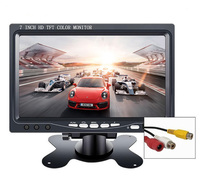 10.1 inch HD LCD small portable Monitor with Touch button 1024*600 2 AV Input 7 800*480 display for Car Reverse Rearview Camera