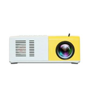 Image 1 - J9 mini projetor hd 1080p mini casa projetor para av usb cartão micro sd usb portátil bolso beamer pk YG 300