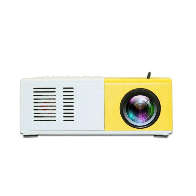 J9 mini projetor hd 1080p mini casa projetor para av usb cartão micro sd usb portátil bolso beamer pk YG 300