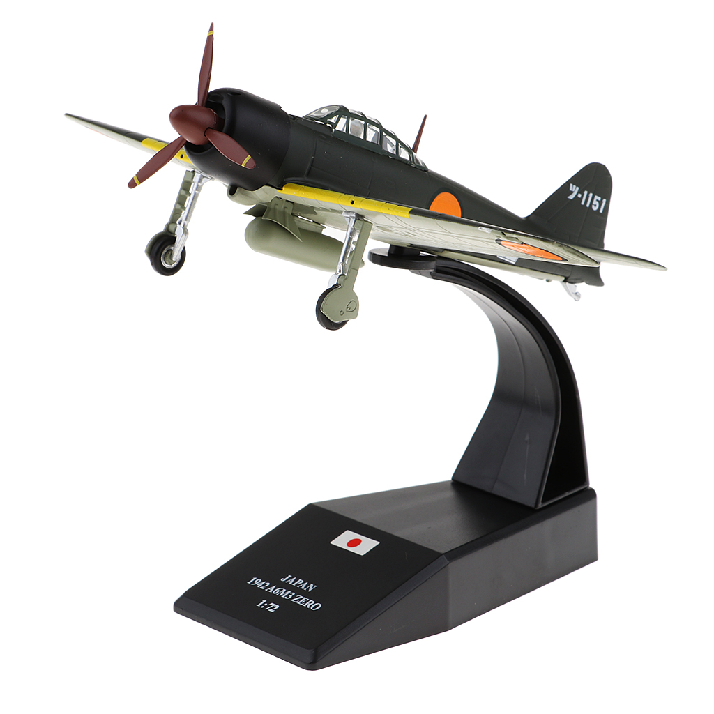 1:72 Mitsubishi A6M3 Zero Aircraft Model World War II Diecast Military Aeroplane Collection Art Crafts