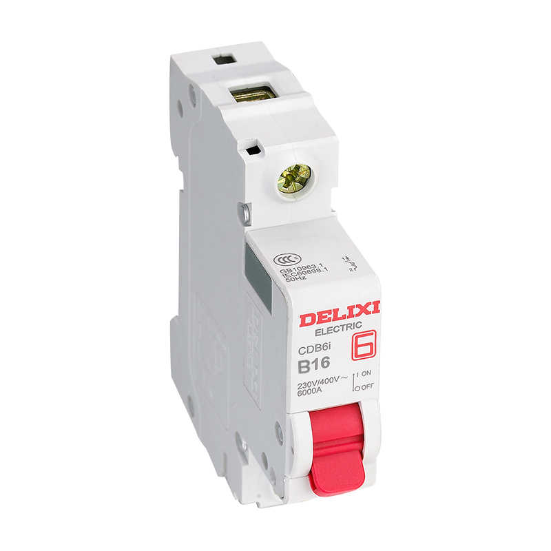 Interruptor de circuito DELIXI 1 curva tipo B 230/400V AC 6A 10A 16A 20A 25A 32A 63A Mini interruptor de circuito 50 HZ/60 HZ CDB6i MCB con CE