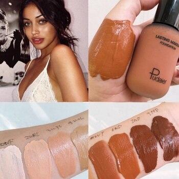 40ml Face Foundation Cream Mineral Full Coverage Matte Liquid Concealer Base Make Up Professional Skin Tone Dark Black Corrector 1