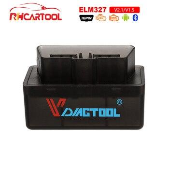2019 סופר מיני OBD2 Elm327 Bluetooth OBD2 V1.5 Elm 327 V 1.5 OBD 2 אוטומטי קוד סורק Elm-327 OBDII מתאם רכב אבחון כלי