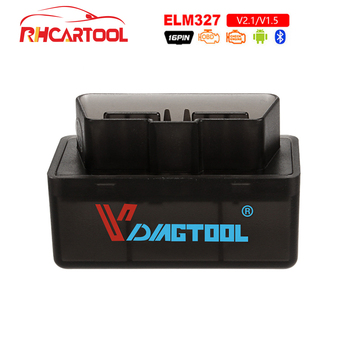 2019 süper Mini OBD2 Elm327 Bluetooth OBD2 V1.5 Elm 327 V 1.5 OBD 2 otomatik kod tarayıcı Elm-327 OBDII adaptörü araç teşhis aracı