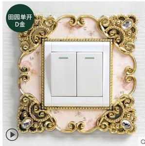 Наклейка на стену для выключателя Наклейка защитная крышка переключатель Крышка креативная гостиная спальня Европейский стиль декоративн...