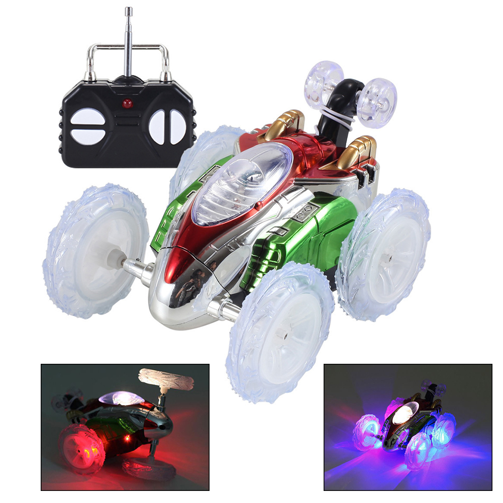 Boys Gift Toy Dasher Vehicle Kids Remote Control Toy RC Stunt Dancing Car 360 Tumbling Electric Controlled  Flashing Light