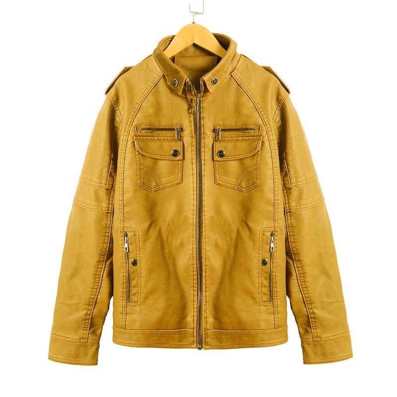 Hf1af391d7cab48a582896e56552ea2b2I Luxury 2019 Leather Jackets Men Autumn Fleece Zipper Chaqueta Cuero Hombre Pockets Moto Jaqueta Masculino Couro Slim Warm Coat