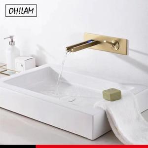 Gold Luxury Bathroom LED Sink