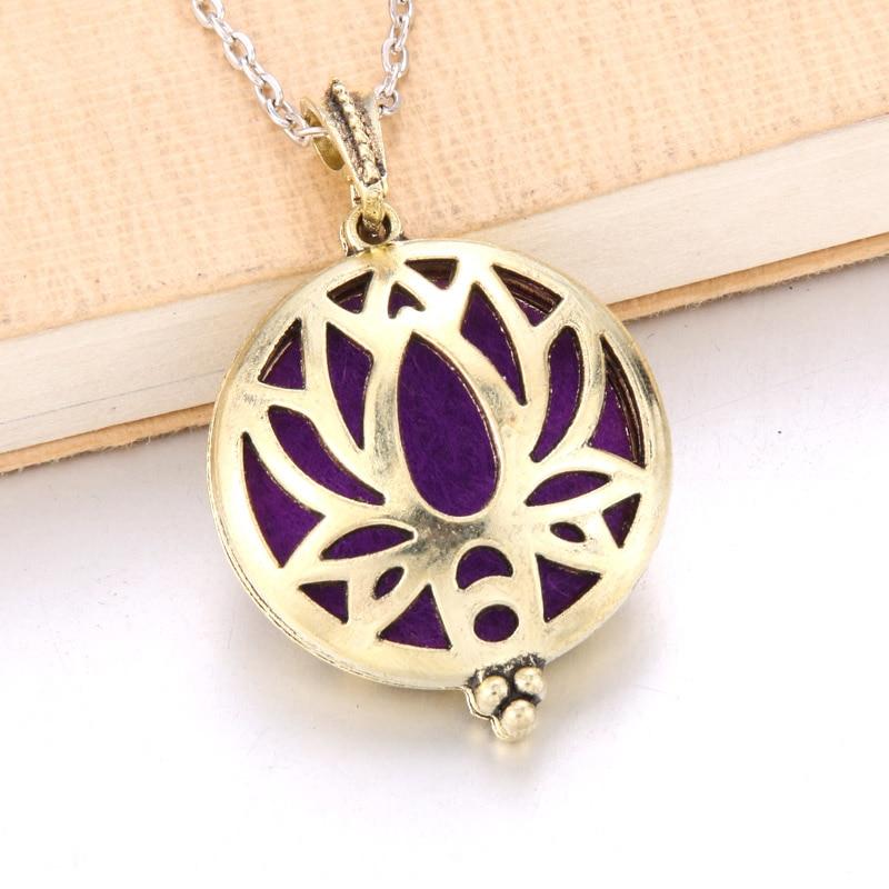 1 шт. аромадиффузор ожерелье Открытый Античный винтажный медальон кулон парфюм эфирное масло ароматерапия медальон ожерелье с подушечками - Окраска металла: N2222