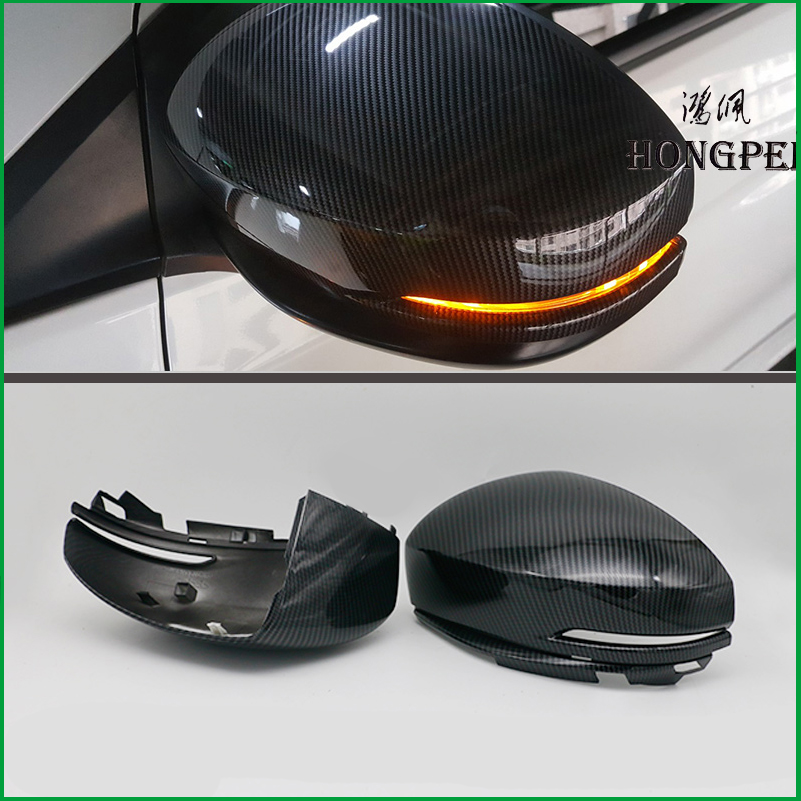 FOR Honda Fit <font><b>GK5</b></font> <font><b>Jazz</b></font> 2014-2017 ABS Carbon fibre Print REAR SIDE-VIEW WING REARVIEW MIRROR COVER STICKER TRIM Car-styling image