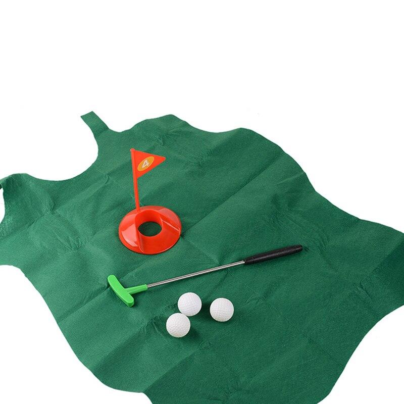 Mini Toilet Leisure Toy Golf Novelty Indoor Indoor Putting Practice Toy Set