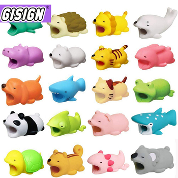 1Pcs Cute Cable Bite Animals Protector For Android Iphone Charging Cord Cable Buddies Cartoon Cable Biter Phone Holder Accessory