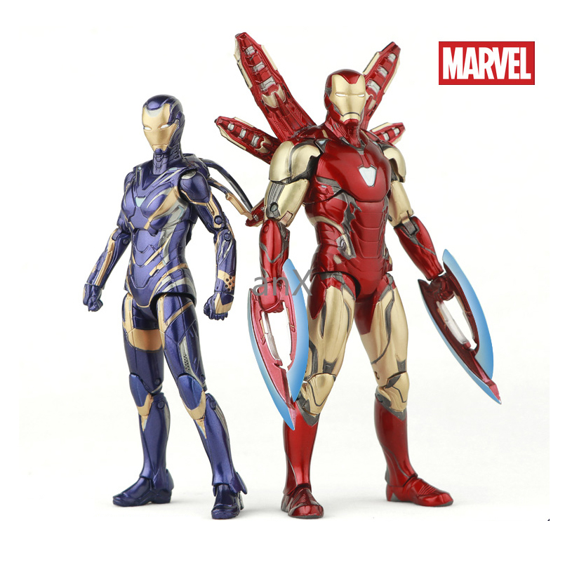 17cm Pepper Marvel MK85 Iron Man The Avengers 3 Iron Spider Man Amazing Spiderman Movable Action Figure Model Toys