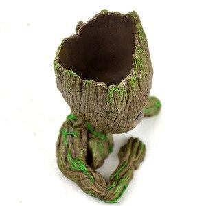 Image 5 - Baby Groot Blumentopf Blumentopf Pflanzer Figuren Baum Mann Nette Modell Spielzeug Stift Topf Garten Pflanzer Blumentopf Geschenk für kinder