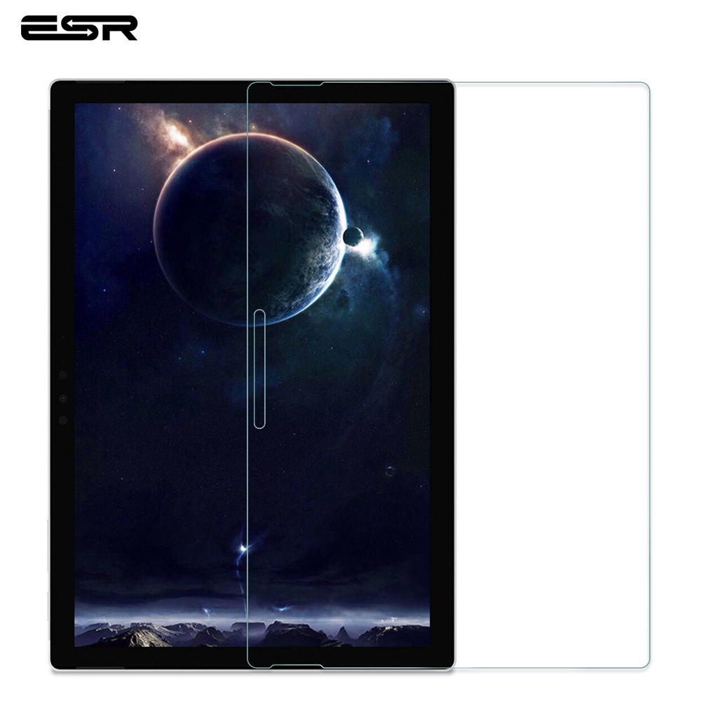ESR Screen Protector for Microsoft Surface Pro 4/5/6/7 Pad 9H Glass Explosion Proof Surface Full Cover Tempered Glass Film image