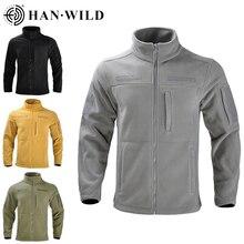Tactical Training Fleece Jacket Outdoor Camping Clothing Lapel Men Coat Sport Clothes Solid Color Commute Windbreaker Unisex