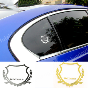 2pcs For Subaru For audi For BMW For Lexus Badge Nickel Metal Car Emblem Thin Decal Sticker Window body sticker Car Accessories(China)