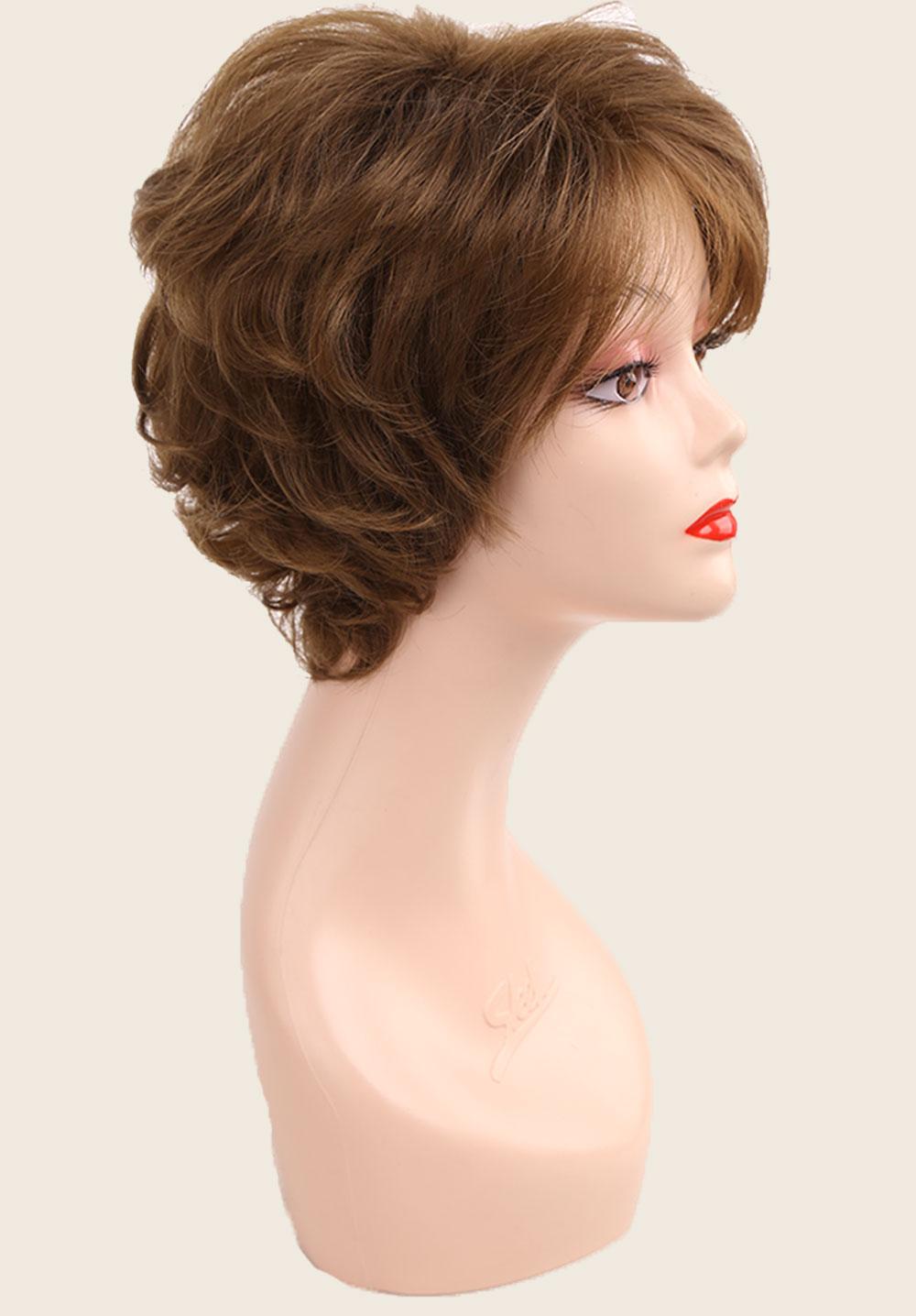 natural das mulheres perucas diárias com franja