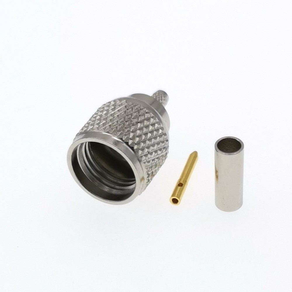 Mini UHF Plug Crimp for rg174 l07b