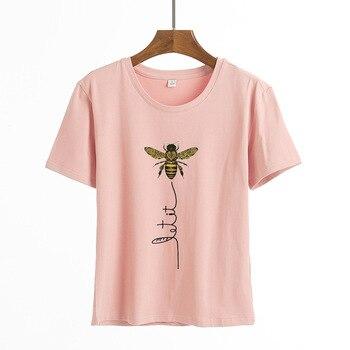 Camisetas con impresión de manga corta para Mujer, ropa de Mujer, camisetas...
