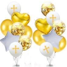 Balão de páscoa bênção cruz balões de páscoa festa de páscoa decoração ballon baptismo bifurcação sagrada comunhão favores christen decotion