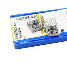 10PCS CNMG120402 חה H01 אלומיניום חותך להב 100% מקורי הכנס כלי הפיכת מחרטה מפנה מחזיק הפיכת כלי