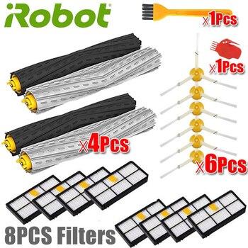 Ev Aletleri'ten Elektrikli Süpürge parçaları'de IRobot Roomba parça kiti serisi 800 860 865 866 870 871 880 885 886 890 900 960 966 980  fırçalar ve filtreler