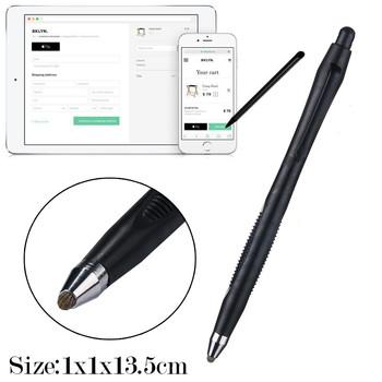 Ekran dotykowy rysik uniwersalny dla iPhone iPad dla Samsung Tablet telefon PC ekran dotykowy rysik rysik # LR2 tanie i dobre opinie Pojemnościowy ekran Dla apple Tabletki 19cm One size Metal