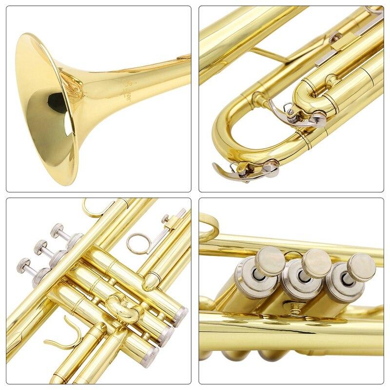 trompete de bronze com um bocal