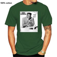 Novo rip fats domino 1928-rock and roll men camiseta roupas tamanho S-2Xl camiseta vintage