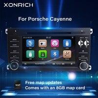2 Din Car DVD Multimedia Player For Porsche Cayenne 2003 2004 2005 2006 2007 2008 2009 2010 GPS Navigation Radio Head Unit 125mm