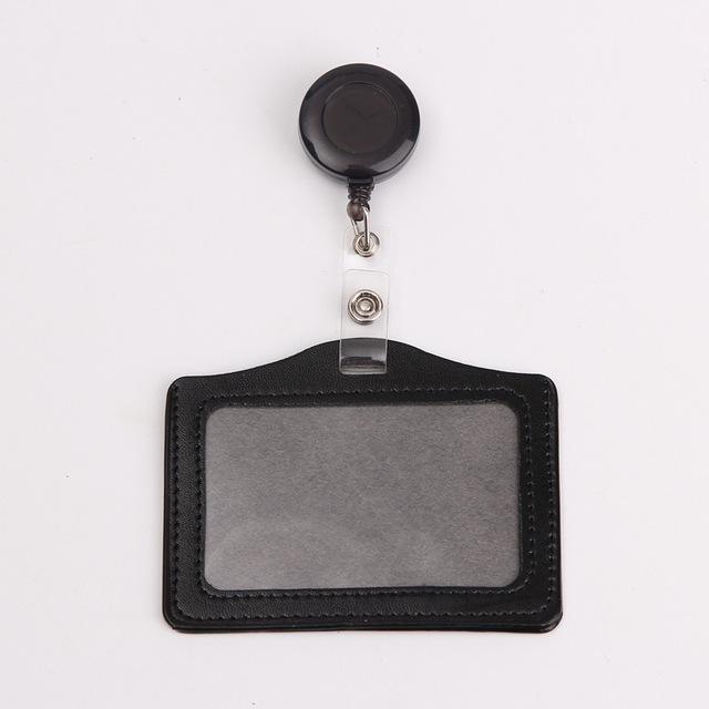Credit Card Holders With Retractable Badge Reels Clip Name Badge Office School Supplies Identity Badge Protective Card Cover 4