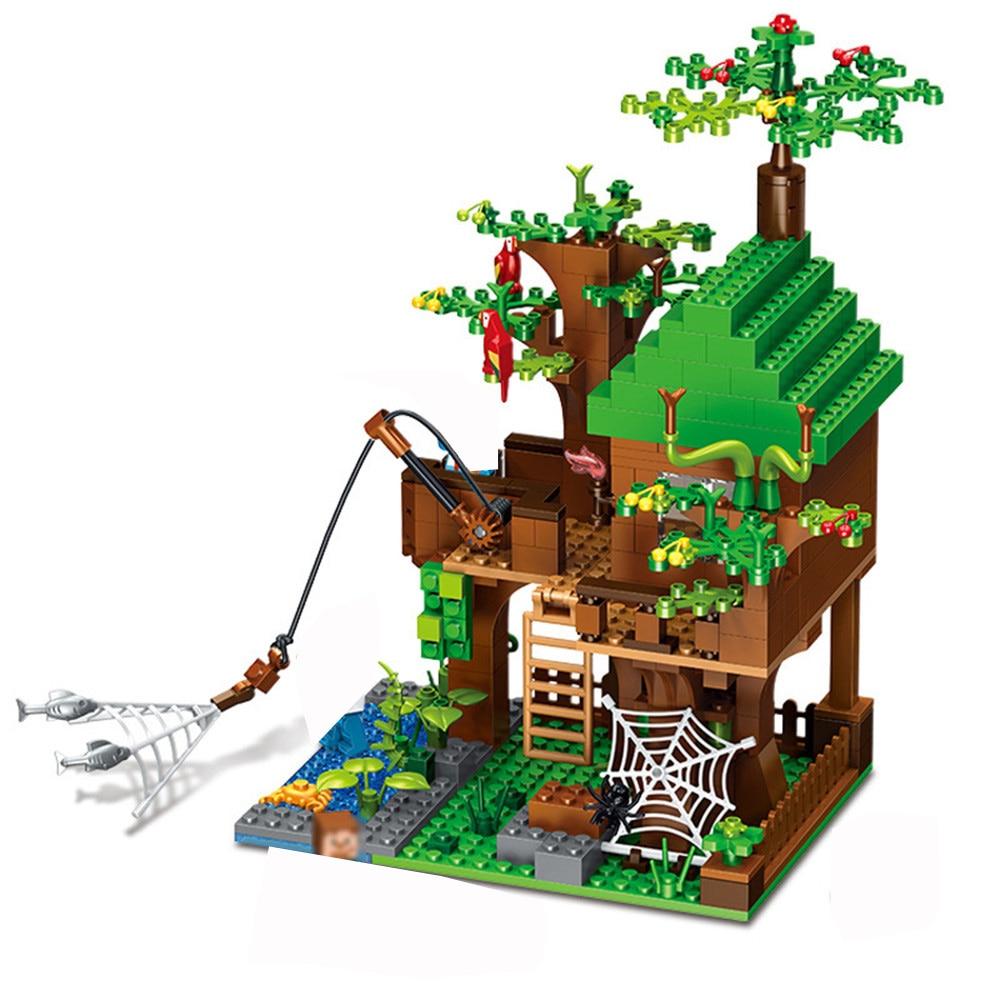 443 pces meu mundo blocos de construção