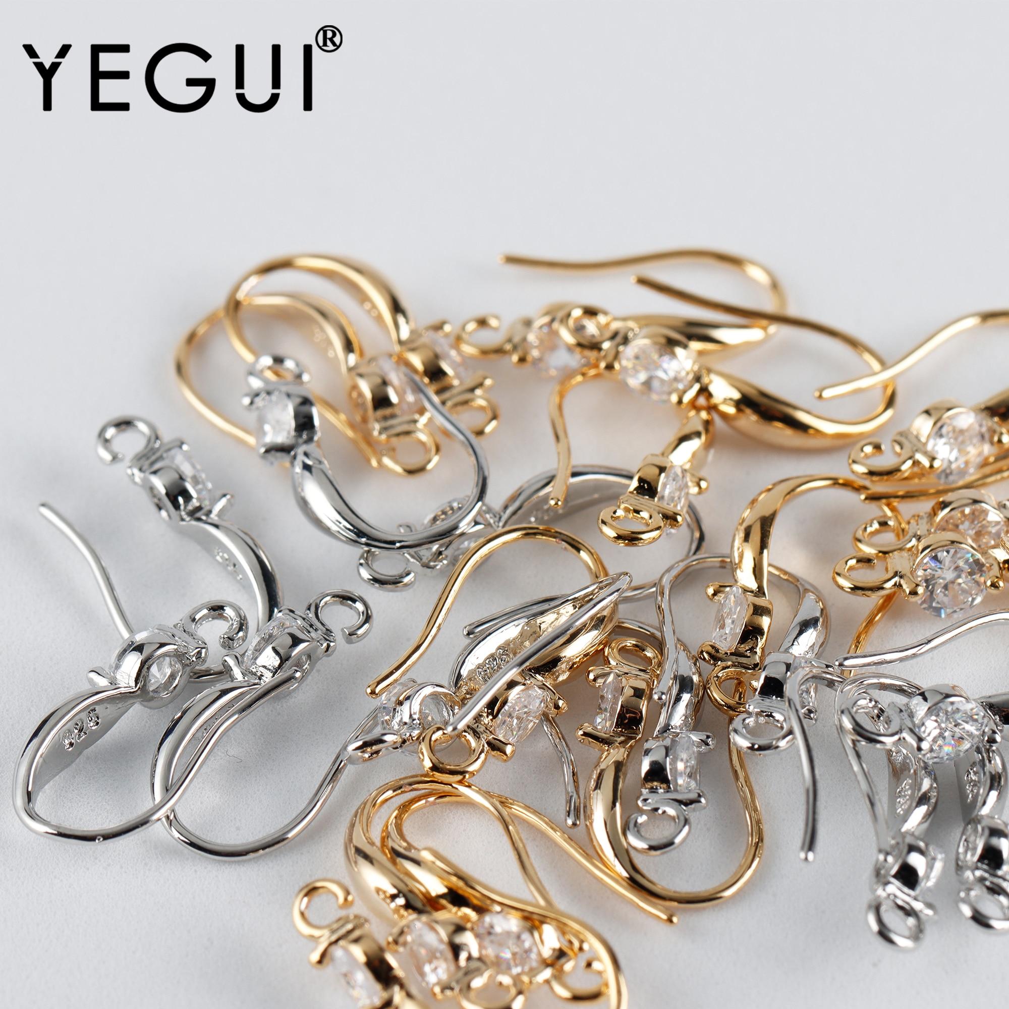 YEGUI M926, аксессуары для ювелирных изделий, позолоченные 18k, медный металл, родиевое покрытие, циркон, очаровательные, diy серьги, изготовление ю...