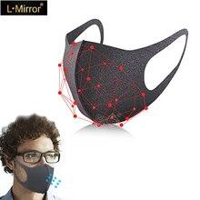 L.Mirror 3 шт./компл. противоаллергическая маска PM2.5 для рта, модная Пыленепроницаемая холодная блочная новая Органическая губчатая маска для лица