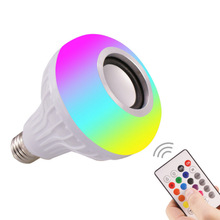 Dropship LED Light Bulb Bluetooth Speaker Smart Wireless Music with Remote Control