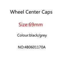 20pcs 69mm 그레이 블랙 휠 센터 캡 허브 커버 배지 엠블럼 TT A3 A4 A5 A6 A7 A8 Q5 R8 S3 S4 S5 S6 4B0601170A