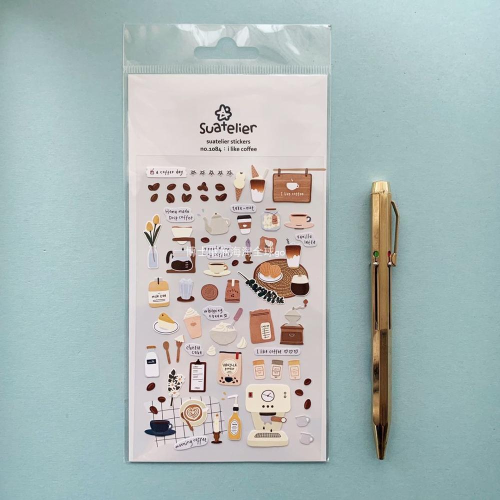 Korean I Like Coffee Bullet Journal Sticker Scrapbook Decoration PVC Stationery DIY Stickers Home Decoration Stickers