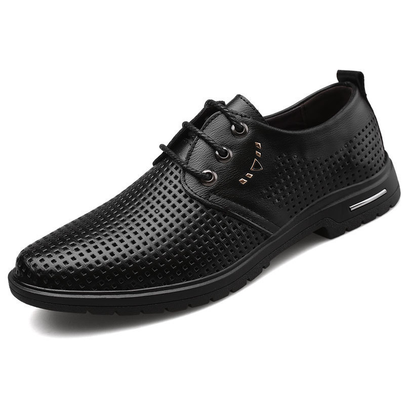 Spring Summer Elegant Mens Italian Leather Formal Shoes Breathable Luxury Brand Male Dress Footwear Brogue Oxford Shoes For Men