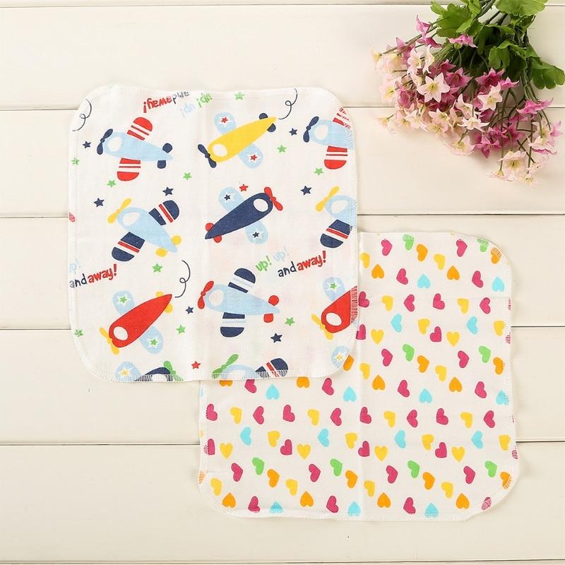 6Pcs Baby Cartoon Towels Handkerchief Bathing Feeding Face Washcloth Wipe Cloth
