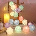 2,2 м питаемые через USB порт ватным тампоном Фея гирлянды Праздничная Свадебная вечеринка патио спальня рождественские украшения освещение ...