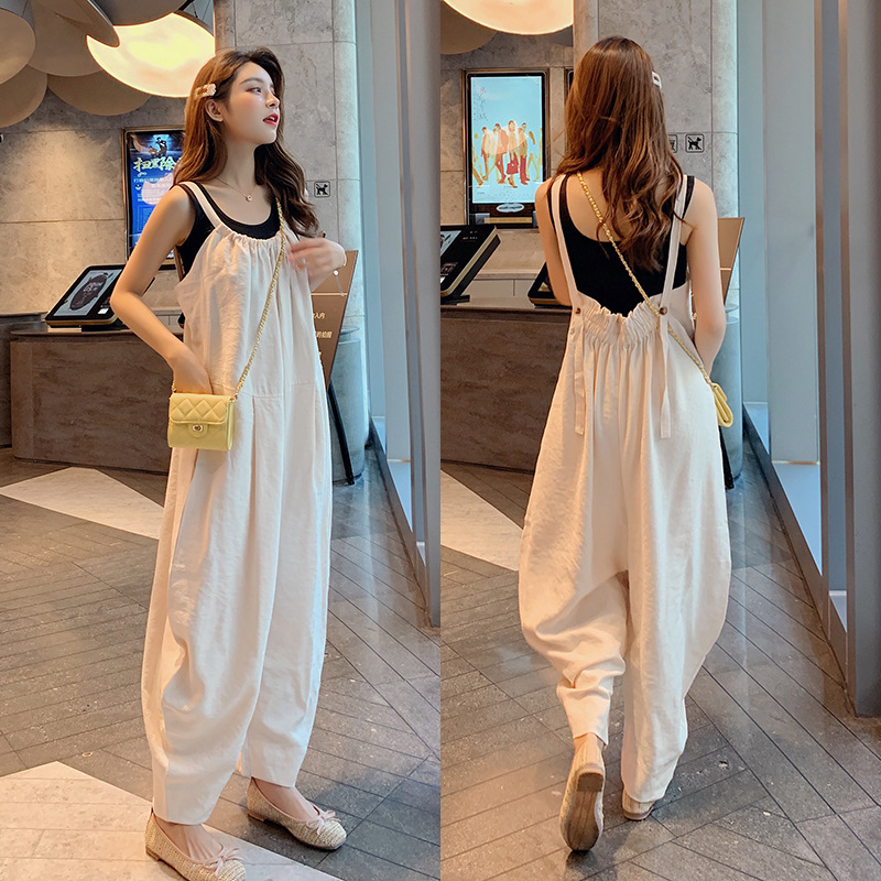 Photo Shoot 2019 Summer Korean-style New Style Tight Slim Fit Slimming Camisole + Loose-Fit Onesie Children F7331