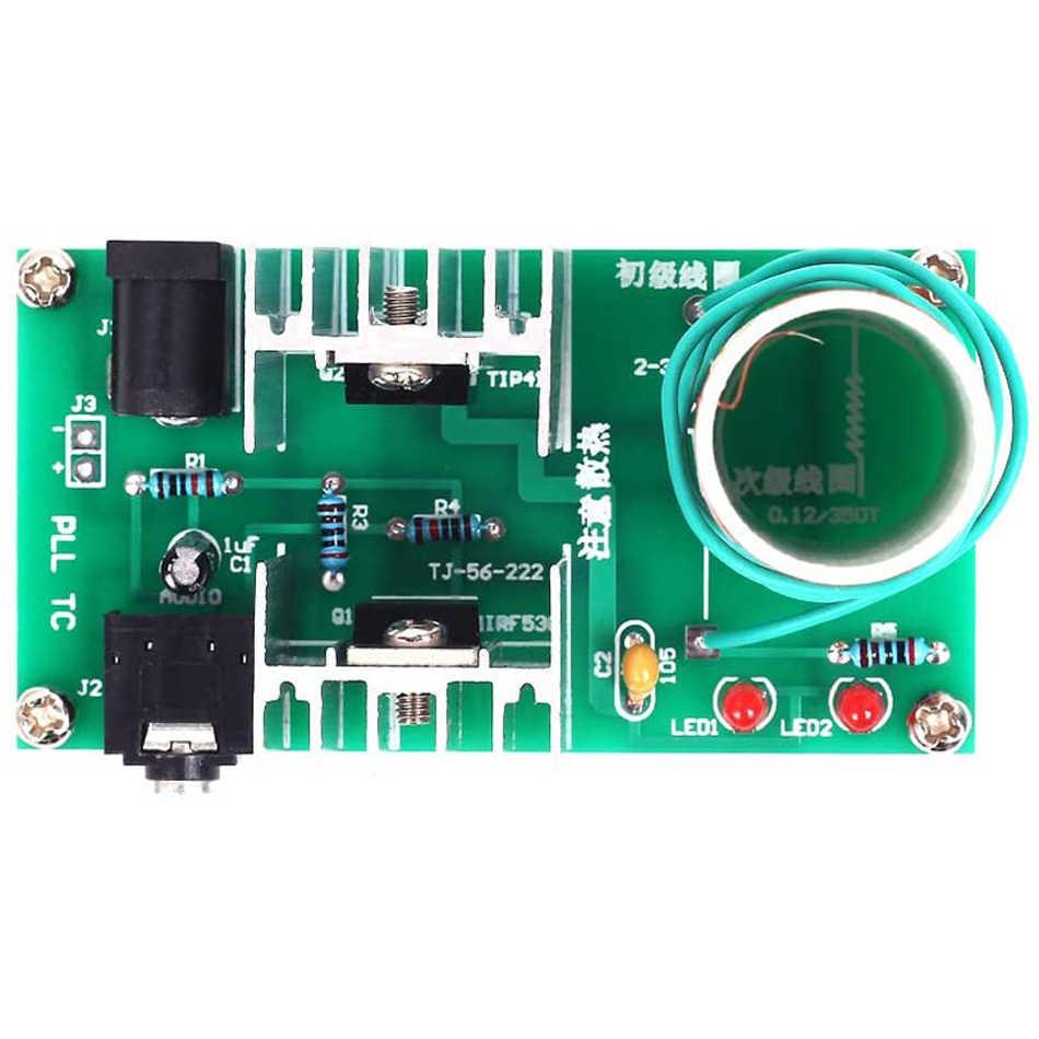 Mini Tesla Coil DIY Kit DC 15-24V 15W Tesla Musik Coil Plasma Speaker Elektronik Kit Arc plasma Ilmiah Mainan