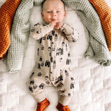 Newborn Baby Boys Romper Spring Autumn Long Sleeve Infant Girl Clothing Tulum Jumpsuit Cotton Sleepwear 0-24M  ropa bebe Outfits