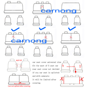 Image 5 - Carnong universal car seat cover protector vehicle automobile fashion soft comfortable four season auto seat cover protector