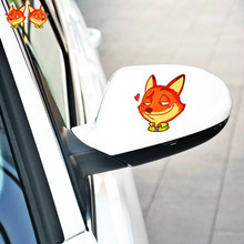 Aliauto 2xCar Accessori Zootopia Del Fumetto Fox Sticker Decorazione Della Decalcomania per il Motociclo Trolley Caso Hyundai Renault Nissan Mazda(China)