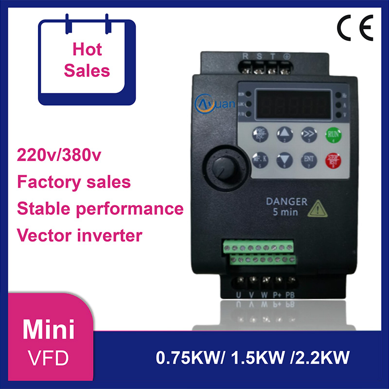 Mini inversor variável da frequência do vetor de vfd 2.2kw 1.5kw 0.75kw 220v 380v para o conversor da movimentação da velocidade do motor