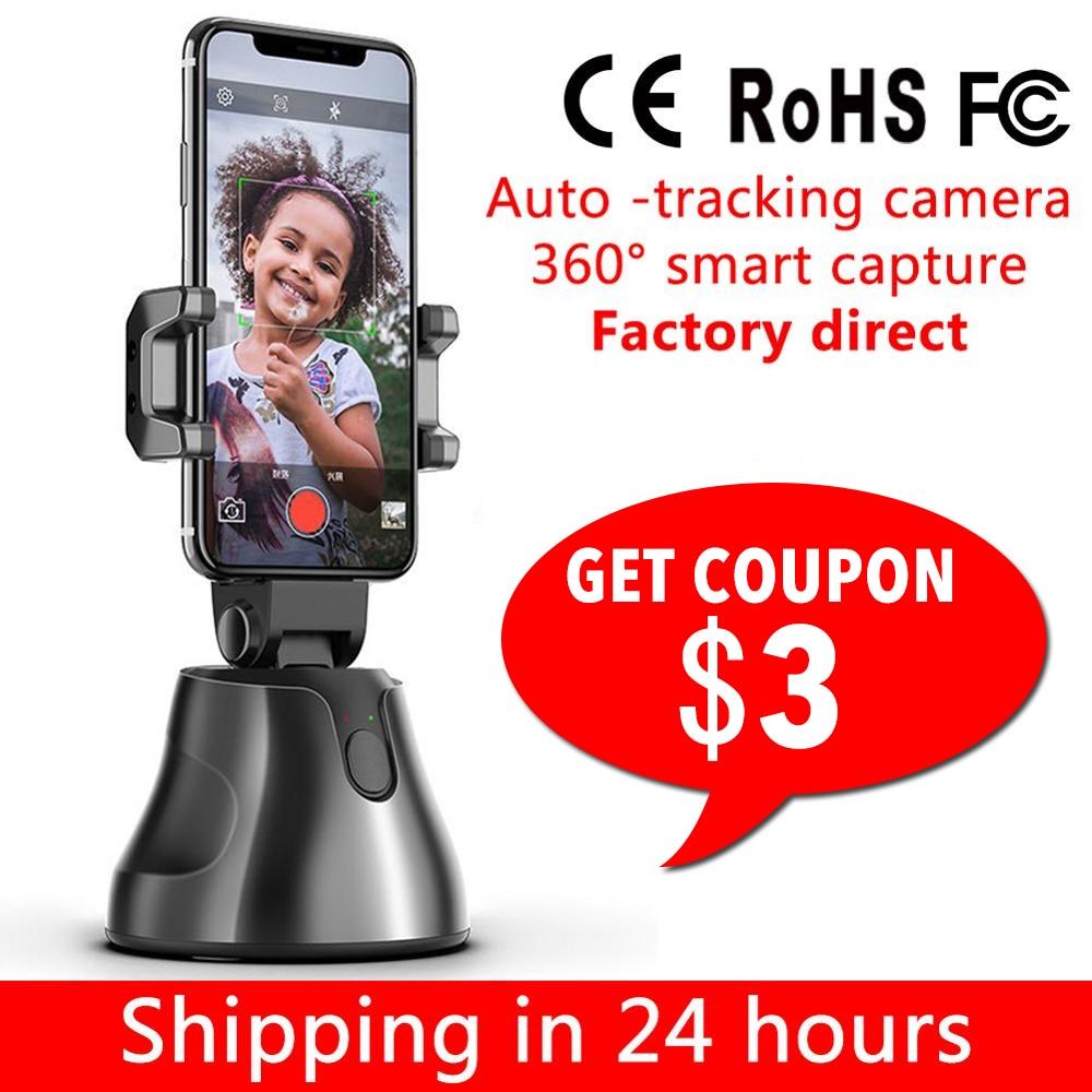 Smart Shooting Selfie Stick Smartphone Holder Mount 360 Rotation Auto Face Tracking Object Tracking Vlog Camera Phone Holder